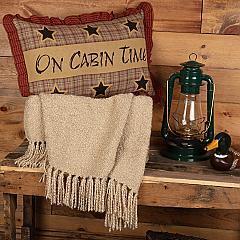Dawson Star On Cabin Time Pillow 14x22