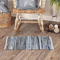 Denim & Hemp Chindi/Rag Rug Rect 20x30