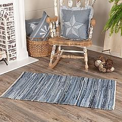 Denim & Hemp Chindi/Rag Rug Rect 27x48