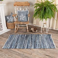 Denim & Hemp Chindi/Rag Rug Rect 36x60