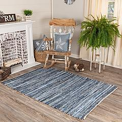 Denim & Hemp Chindi/Rag Rug Rect 48x72