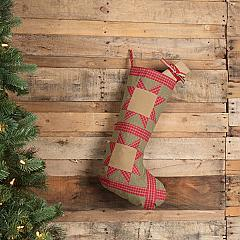 Dolly Star Green Patch Stocking 12x20