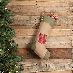 Dolly Star Red Pocket Stocking 12x20