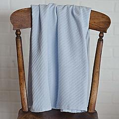 Dusty Blue Baby Blanket 48x36