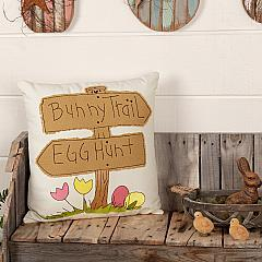 Easter Bunny Trail Pillow 18x18