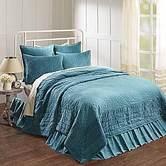 Eleanor Teal Queen Quilt 90Wx90L
