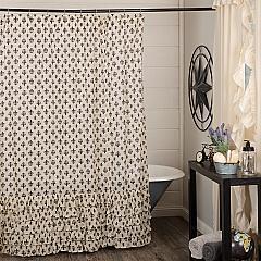 Elysee Ruffled Shower Curtain 72x72