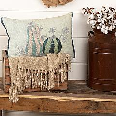 Embroidered Gourd Pillow 14x22