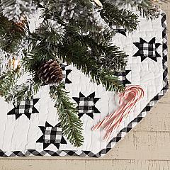 Emmie Black Patchwork Mini Tree Skirt 21