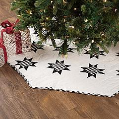 Emmie Black Patchwork Tree Skirt 55