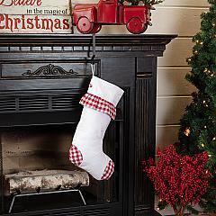 Emmie Red Check Ruffle Stocking 12x20
