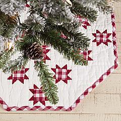 Emmie Red Patchwork Mini Tree Skirt 21