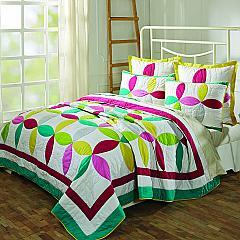 Everly Queen Set; Quilt 90Wx90L-2 Shams 21x27