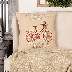 Farmer's Market Flower Market Pillow 18x18
