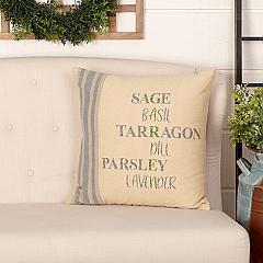 Farmer's Market Garden Pillow 18x18