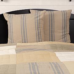 Farmer's Market Grain Sack Stripe Fabric Euro Sham Set of 2 26x26