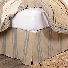 Farmer's Market Grain Sack Stripe King Bed Skirt 78x80x16