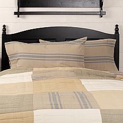 Farmer's Market Grain Sack Stripe King Pillow Case Set of 2 21x40