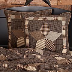 Farmhouse Star Euro Sham Quilted 26x26