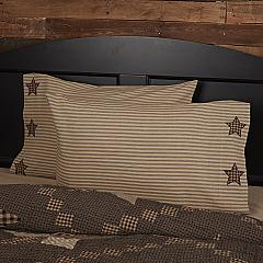 Farmhouse Star Standard Pillow Case w/Applique Star Set of 2 21x30