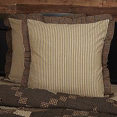 Farmhouse Star Ticking Stripe Fabric Euro Sham 26x26