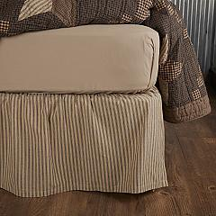 Farmhouse Star Ticking Stripe Queen Bed Skirt 60x80x16