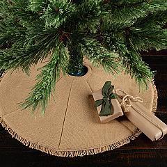 Festive Natural Burlap Mini Tree Skirt 21