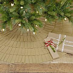 Festive Natural Burlap Ruffled Tree Skirt 48