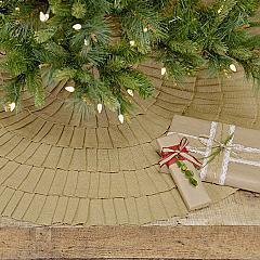 Festive Natural Burlap Ruffled Tree Skirt 48