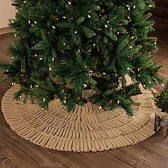 Festive Natural Burlap Ruffled Tree Skirt 55
