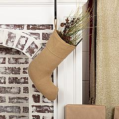 Festive Natural Burlap Stocking 11x15