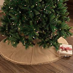 Festive Natural Burlap Tree Skirt 48