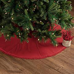 Festive Red Burlap Tree Skirt 48