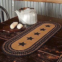 Farmhouse Jute Runner Stencil Stars 13x36