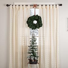 Green Burlap Wreath 15