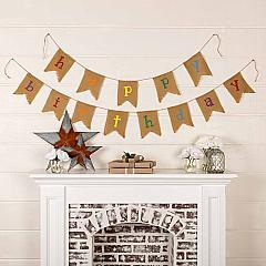 Happy Birthday Banner Multi Color Lettering