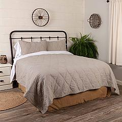 Harbour Grey Queen Quilt 90Wx90L