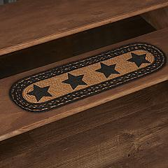 Farmhouse Jute Stair Tread Stencil Stars Oval Latex 8.5x27