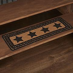 Farmhouse Jute Stair Tread Stencil Stars Rect Latex 8.5x27