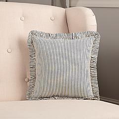 Hatteras Seersucker Blue Ticking Stripe Fabric Pillow 12x12