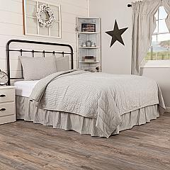 Hatteras Seersucker Blue Ticking Stripe Queen Quilt Coverlet Set (1 Queen Quilt + 2 Std Shams)