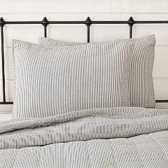 Hatteras Seersucker Blue Ticking Stripe Standard Sham 21x27