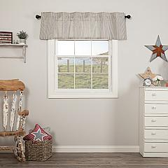 Hatteras Seersucker Blue Ticking Stripe Valance 16x60