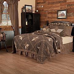Farmhouse Star California King Quilt 130Wx115L