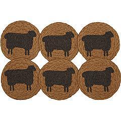 Heritage-Farms-Sheep-Jute-Coaster-Set-of-6-image-5