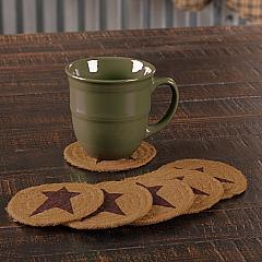 Heritage Farms Star Jute Coaster Set of 6