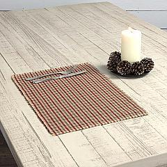 Jonathan Plaid Ribbed Placemat Set of 6 12x18