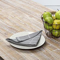 Julie Grey Plaid Napkin Set of 6 18x18