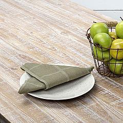 Julie Olive Plaid Napkin Set of 6 18x18