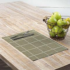 Julie Olive Plaid Placemat Set of 6 12x18
